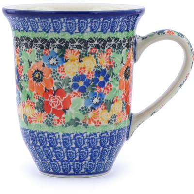 Polish Pottery Mug 15 oz Bountiful Basket UNIKAT
