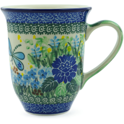 Polish Pottery Mug 15 oz Garden Delight UNIKAT
