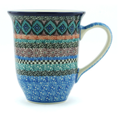 Polish Pottery Mug 15 oz Mesa UNIKAT