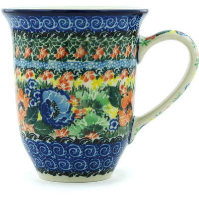 Polish Pottery Mug 15 oz Passion Meadow UNIKAT