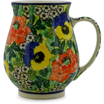 Polish Pottery Mug 17 oz Breathtaking UNIKAT