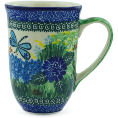 Polish Pottery Mug 17 oz Garden Delight UNIKAT