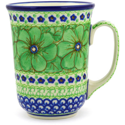 Polish Pottery Mug 17 oz Key Lime Dreams UNIKAT