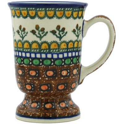 Polish Pottery Mug 8 oz Cranberry Medley UNIKAT
