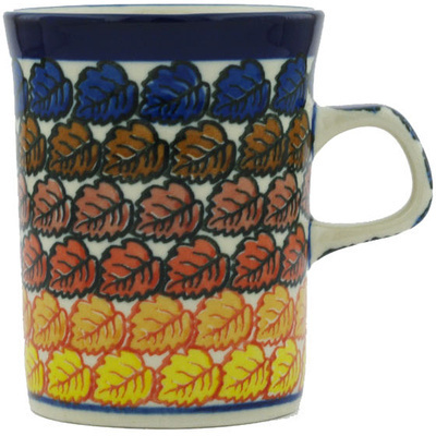 Polish Pottery Mug 8 oz Golden Autumn UNIKAT