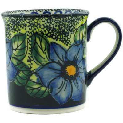 Polish Pottery Mug 8 oz Midnight Glow UNIKAT