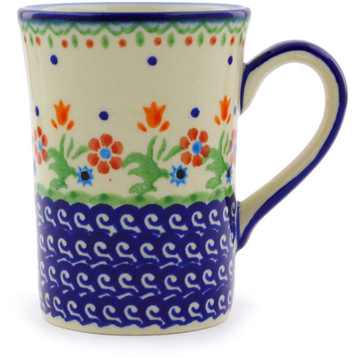 Polish Pottery Mug 8 oz Spring Flowers