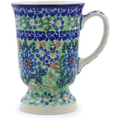 Polish Pottery Mug 8 oz Spring Wedding UNIKAT