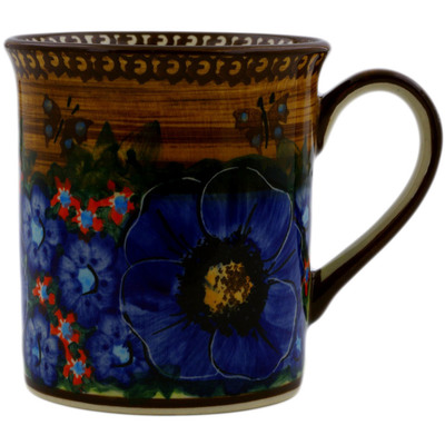 Polish Pottery Mug 8 oz Tropical Wildflowers UNIKAT