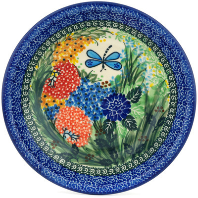 "Polish Pottery Pasta Bowl 8"" Garden Delight UNIKAT"