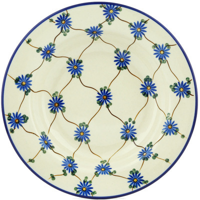 "Polish Pottery Pasta Bowl 9"" Aster Trellis"