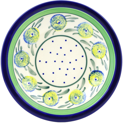"Polish Pottery Pasta Bowl 9"" Limon Swirl"