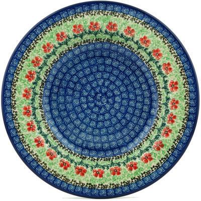 "Polish Pottery Pasta Bowl 9"" Maraschino"