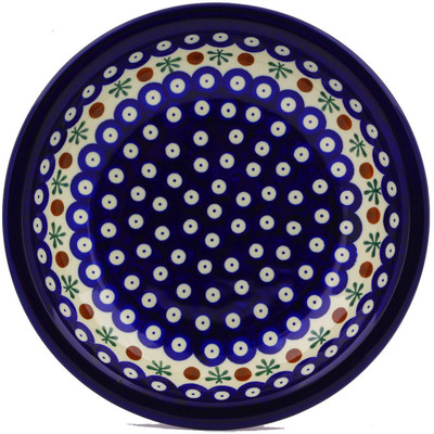 "Polish Pottery Pasta Bowl 9"" Mosquito"