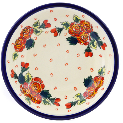 "Polish Pottery Pasta Bowl 9"" Polish Roses"