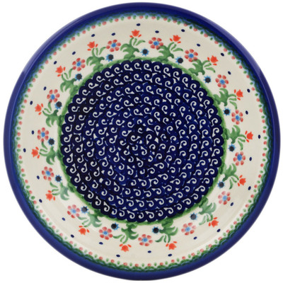 "Polish Pottery Pasta Bowl 9"" Spring Flowers"