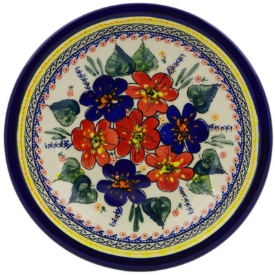 "Polish Pottery Pasta Bowl 9"" Summer Sleandor UNIKAT"