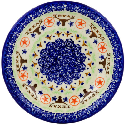 "Polish Pottery Pasta Bowl 9"" Texas State"