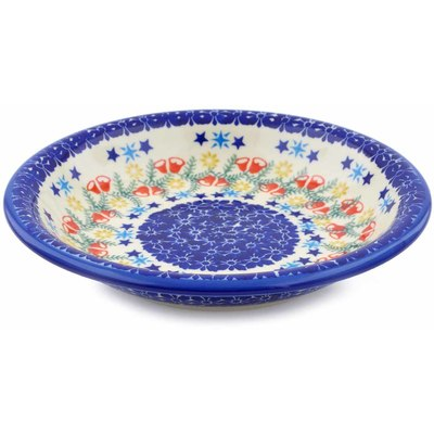 "Polish Pottery Pasta Bowl 9"" Wreath Of Bealls"