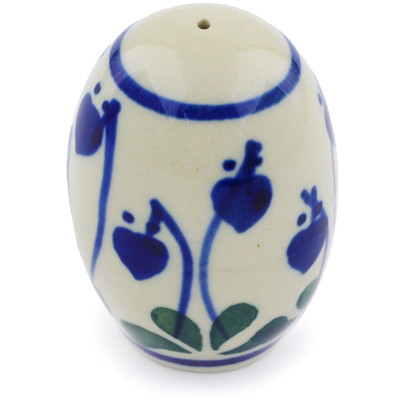 "Polish Pottery Pepper Shaker 2"" Bleeding Heart Peacock"