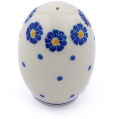 "Polish Pottery Pepper Shaker 2"" Flower Pads"