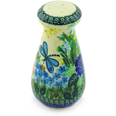 "Polish Pottery Pepper Shaker 6"" Garden Delight UNIKAT"