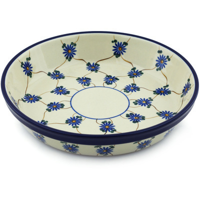 "Polish Pottery Pie Dish 10"" Aster Trellis"