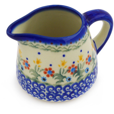 Polish Pottery Pitcher 10 oz Spring Flowers