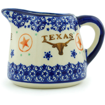 Polish Pottery Pitcher 10 oz Texas State