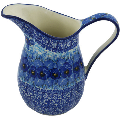 Polish Pottery Pitcher 3½ Cup Deep Winter UNIKAT