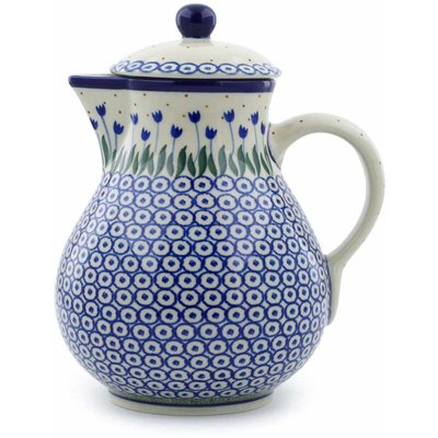 Polish Pottery Pitcher 34 oz Water Tulip