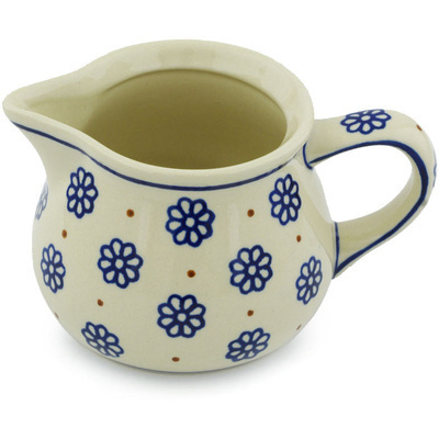 Polish Pottery Pitcher 35 oz Simple Daisies