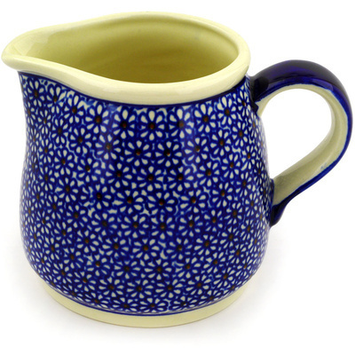 Polish Pottery Pitcher 40 oz Daisy Dreams