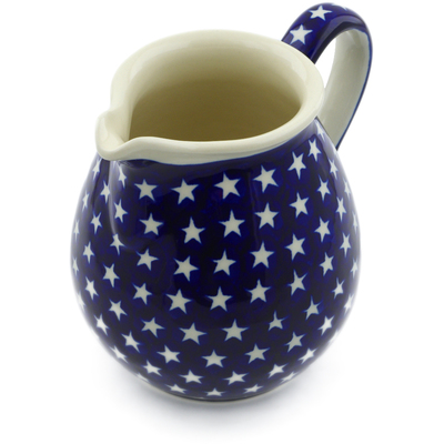 Polish Pottery Pitcher 6 Cup America The Beautiful
