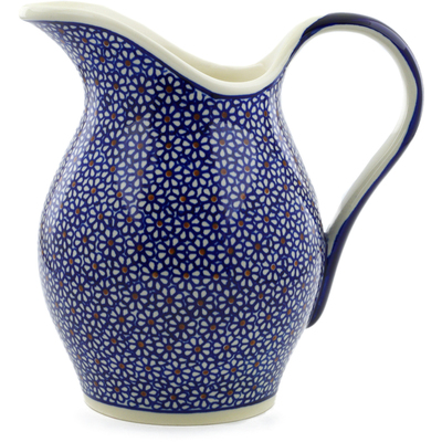 Polish Pottery Pitcher 64 oz Daisy Dreams
