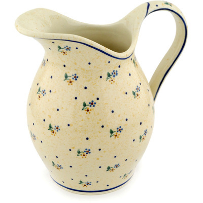 Polish Pottery Pitcher 7¾ Cup Country Meadow