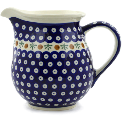 Polish Pottery Pitcher 7 Cup Mosquito