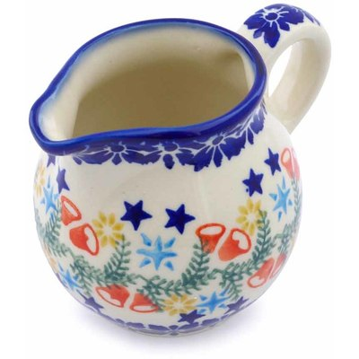 Polish Pottery Pitcher 8 oz Wreath Of Bealls