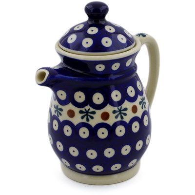 Polish Pottery Pitcher with Lid 15 oz Mosquito