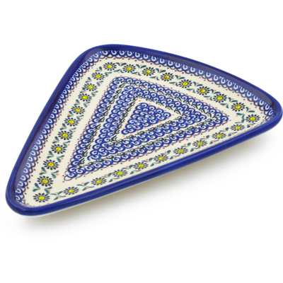 "Polish Pottery Pizza Plate 11"" UNIKAT"