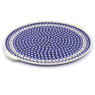 "Polish Pottery Pizza Plate 17"" Mosquito"