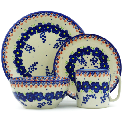 "Polish Pottery Place Setting 10"" Passion Poppy"