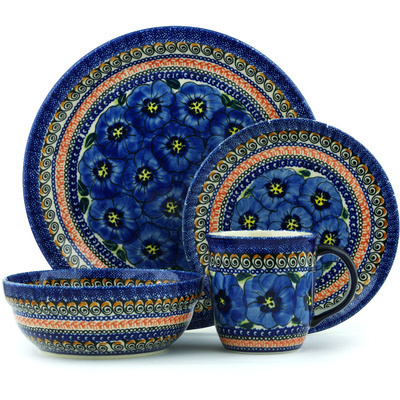 "Polish Pottery Place Setting 11"" Regal Bouquet UNIKAT"