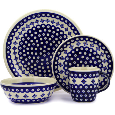 "Polish Pottery Place Setting 11"" Tilt-a-whirl"