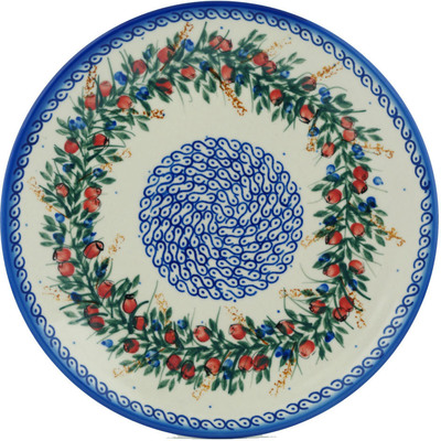 "Polish Pottery Plate 10"" Country Walk"