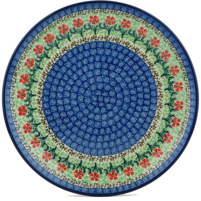 "Polish Pottery Plate 10"" Maraschino"