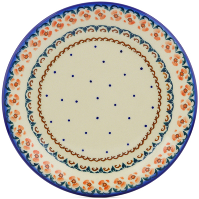 "Polish Pottery Plate 10"" Soft Pink"