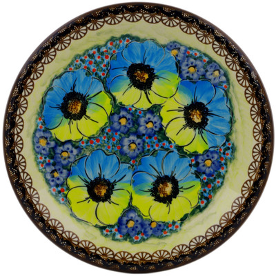 "Polish Pottery Plate 10"" Sweet Emotions UNIKAT"