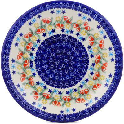"Polish Pottery Plate 10"" Wreath Of Bealls"