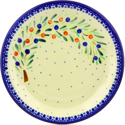 "Polish Pottery Plate 11"" Berry Splash"